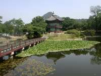 Gyeongbokgung Palace on lily Pond, Seoul
