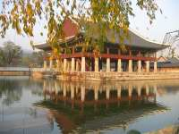 Kyunghiroo Temple in the Fall