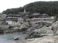 Yonggungsa Temple unusually situated on the Shore